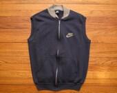 mens vintage Nike blue label sweat shirt vest