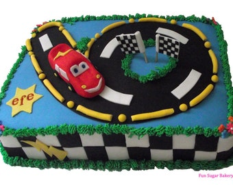 McQueen Birthdays Cake, Cars Movie cake