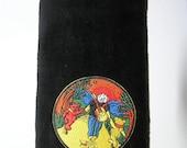 Grateful Dead Jerry Garcia fingertip towel  black vintage applique with bears