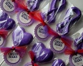 Relay For Life/Breast Cancer Awareness Ribbon Lollipops - Chocolate - Custom Colors Available - Cancer/Autism/AIDS Awareness