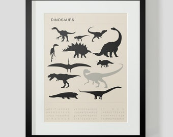 Dinosaur Poster 1 Choose Custom Colors