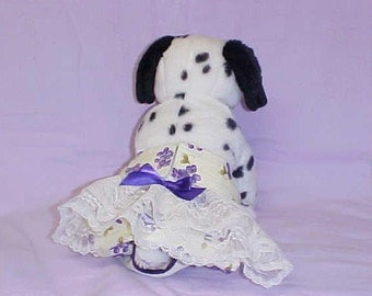 Female Dog Diaper Pet Wrap Britches Panties Doggie Skirt Pants Size XSmall To XLarge Grape Fabric