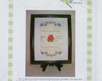 Golden Years - Linen Flowers - Sampler - Cross Stitch Chart