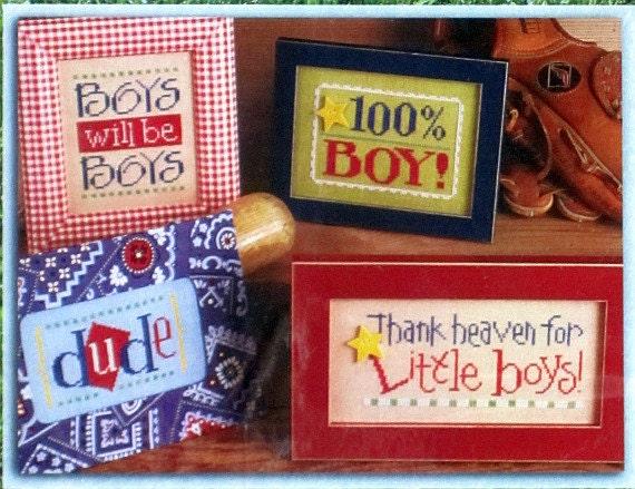 It'a A Boy Thing - Cross Stitch Design by Lizzie Kate