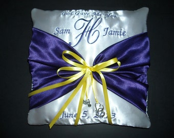 Color Choice Personalized Ring Bearer Pillow