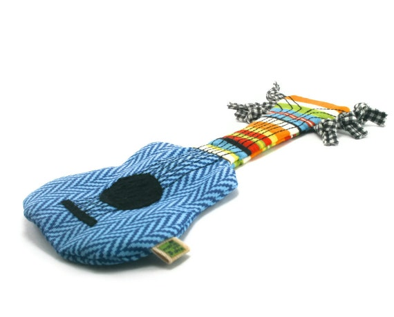 No No Toys : No stuffing and squeaker dog toy guitar extra durable