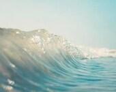 Wave Photography, Beach Decor, Surf Art, Beach Photography,  California, Water Photograph, Ocean,   Turquoise, Surf Decor, Beach House Art
