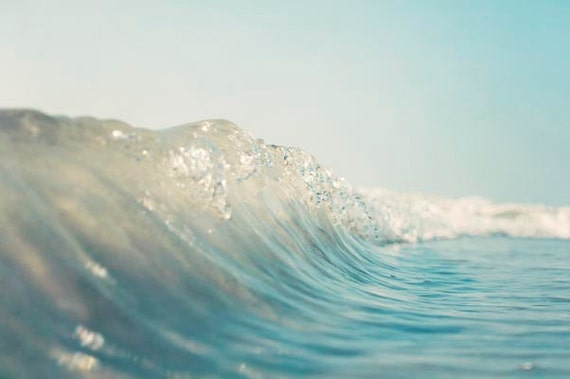 Wave Photography, Beach Decor, Surf Art, Beach Photography,  California, Water Photograph, Ocean,   Turquoise, Surf Decor, Beach House Art