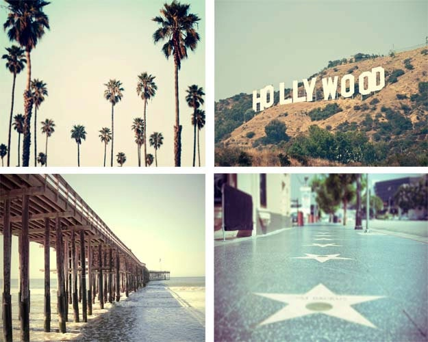 Los Angeles Wall Art california photography print set los angeles large