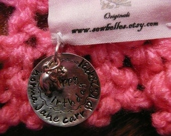 Stainless Steel Silver custom charms for SewBelles afghans and shawls