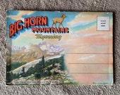 Vintage Big Horn Mountains Wyoming Postcard Folder
