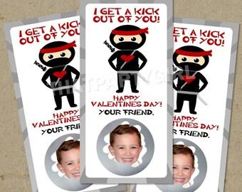 Ninja Valentines Day Scratch Off Cards