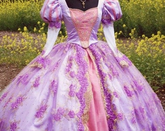 Fantasy Rapunzel Tangled Masquerade or Adult Custom Costume Ball Gown in your Size