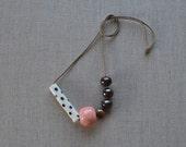 Mix Ceramic Bead Necklace...