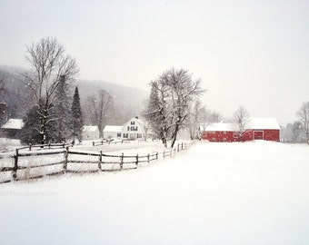 Vermont Winter Scene Print