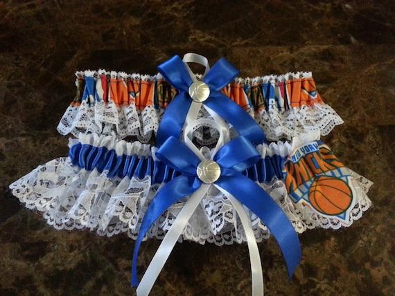 New York Knicks Wedding Garter set basketball any size, color or size.