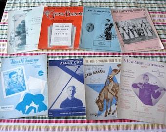 Sheet Music Lot 2  Eight Vintage Songs very Good Condition Movies frank Sinatra Billy Rose Ingrid Bergman