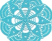 Christmas gift, Crochet doily, lace doilies, decoration, crocheted place mat, tablecloth, turquoise, napkin, aqua, handmade doilies