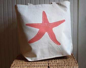 Starfish Tote Bag Hand Screened