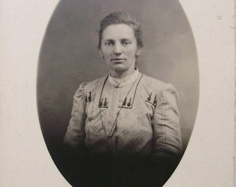 Vintage French Photograph - Woman from Dijon, France