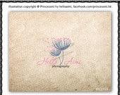 Custom Premade Logo Design - sketch hand drawn little dandelion flowers logo photography business boutique logo by princess mi logo1215-5
