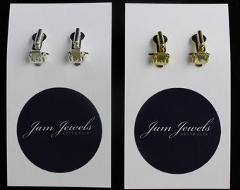 Earring Converters, Pierced To Clip On Earrings, Earrings Adapters,  Bridal Clip On Earrings, Gold/Silver/ROSE GOLD
