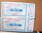 1964 Democratic Convention Atlantic City NJ Main Floor Tickets Lot of 2