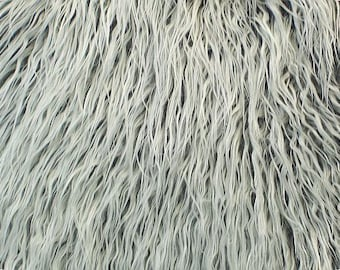 Mongolian Grey Frost Faux Fur 18x30 Photography Prop