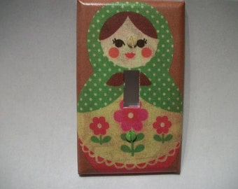 SWITCH PLATE COVER - Nesting Doll