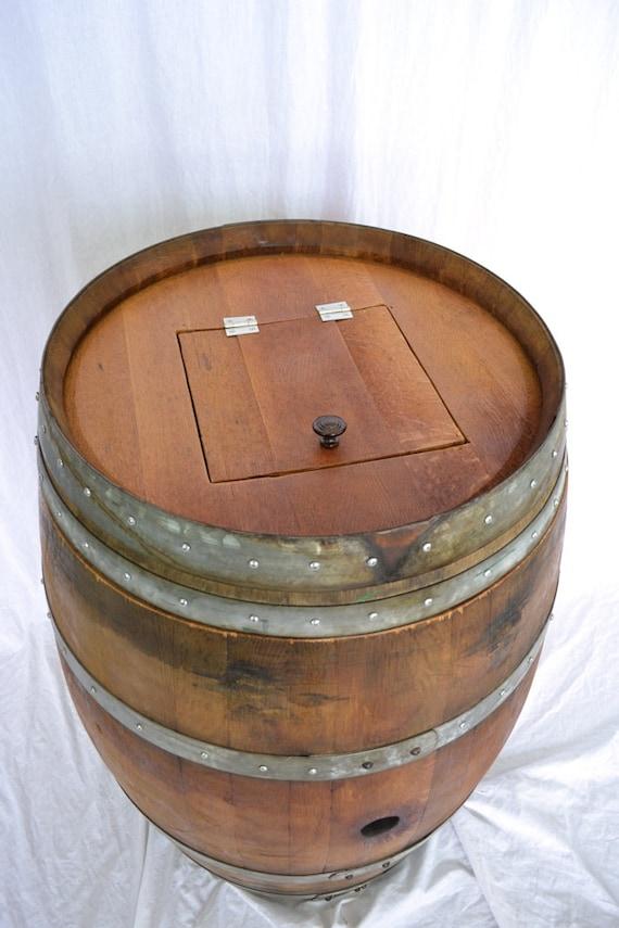 Barrel Quot Receptacle Quot Wine Barrel Trash Can W Removable