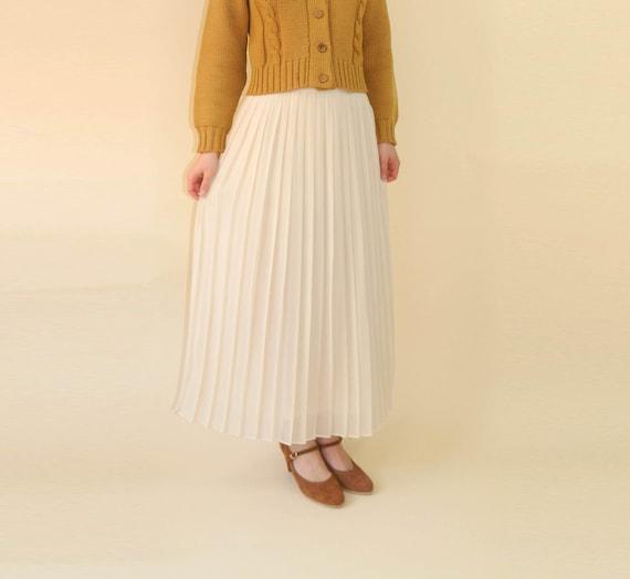 vintage sheer pleated skirt silk by
