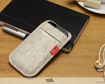iPhone SE / 5S wallet case 100% wool felt -SOAY- SO-5-W
