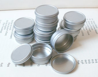 10ml small metal tins, small storage box, small organizer, blank round (set of 100) silver color