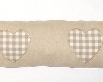 Linen Heart Draught Excluder, Fabric, Door, Heart, Shabby Chic, Home Decor, Handmade, Fabric, Home, Home and Garden, Free Postage