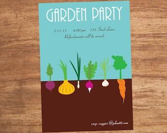 Garden Party Custom Printable Invitation