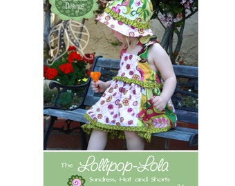Lollipop Lola Sundress Hat and Shorts Pattern