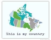 Canada Map. Nursery decor us map for kids. Playroom decor world maps nursery art print. Modern map print nursery print by WallFry