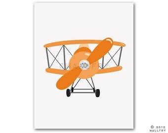 Transportation prints. Airplane print wall art for boys nursery decor. Kids wall art car, boat, airplane prints. AIRPLANE print by Wal