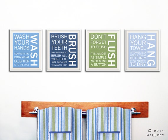 Kids Bathroom Decor Bathroom Art Bathroom Prints Bathroom