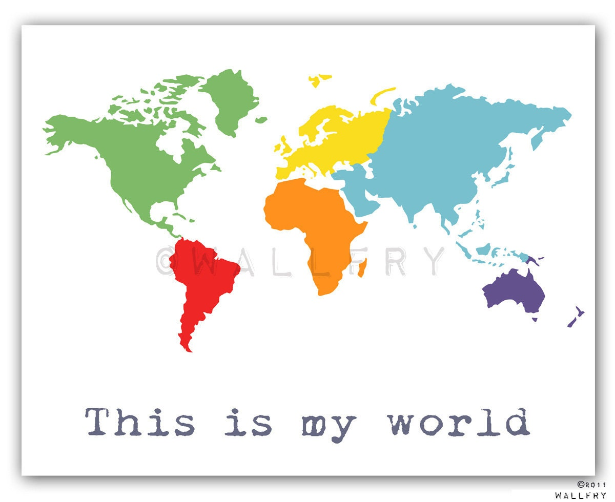 pics photos simple map of the world for kids