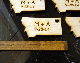 100 Montana State Wedding Favors Custom Engraved