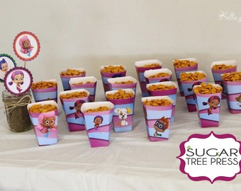 Set of 24 - Bubble Guppies Snack or Popcorn Boxes