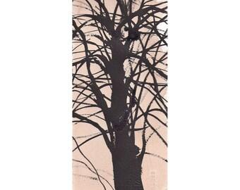 Grid Series No.1 bare trees 7 of 9, original watercolor