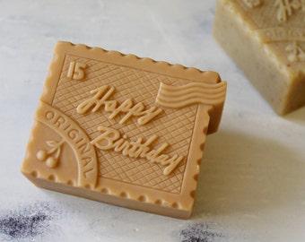 Happy Birthday stamp Silicone Soap Mold  ( Soap Republic )