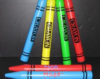 Personalized Jumbo Plastic Crayon Bank