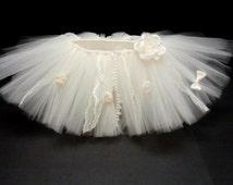 This listing is for 3 Tutu Skirts- Infant Tutu- Ivory Tutu- Toddler Tutu- Girls Tutu- Please only order if you are; wbryant