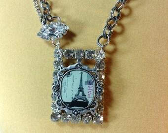 Eiffel Tower Paris France Assemblage Necklace