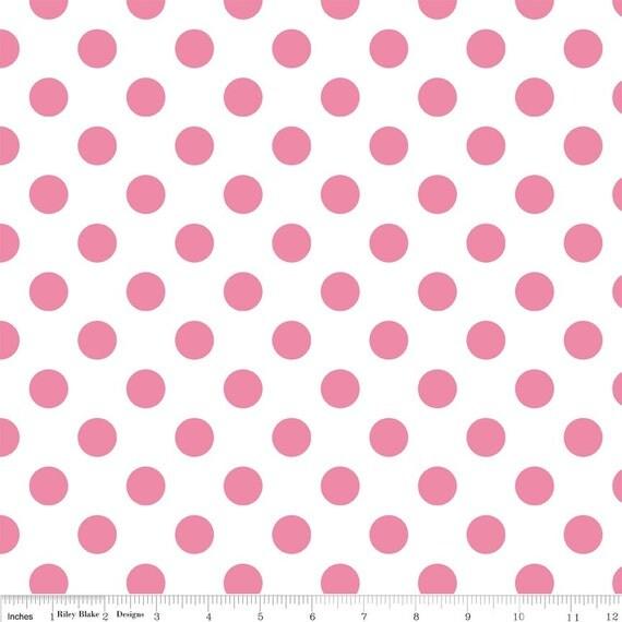 SALE Crib Sheet dot crib sheet white with hot pink polka