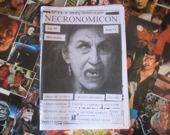NECRONOMICON 12 fanzine horror zine retro geek movies films July 09 vampires robots zombies