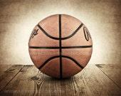Vintage Basketball on Barnwood Photo Print , Decorating Ideas, Wall Decor, Wall Art,  Kids Room, Nursery Ideas, Gift Ideas,